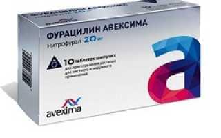 Как разводить фурацилин шипучий